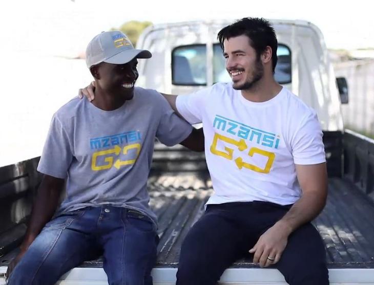 Mzansigo employees on a truck